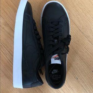 New nike black leather blazers